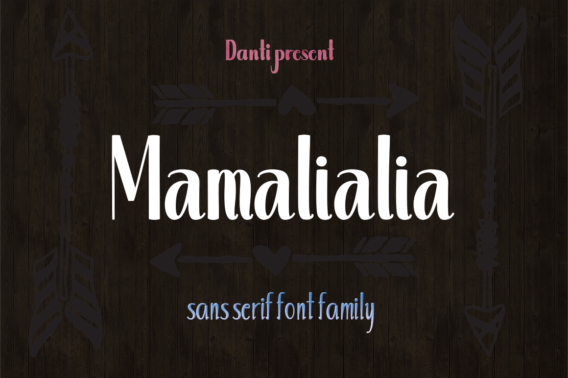 Print on Demand: Mamalialia Sans Serif Font By Danti