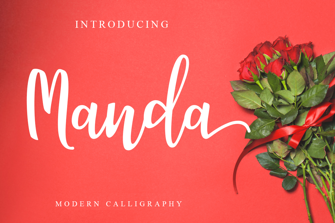 Print on Demand: Manda Script Script & Handwritten Font By Khurasan