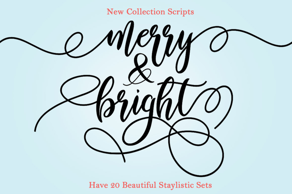Merry & Bright Font By YanIndesign