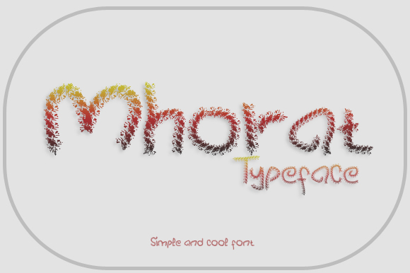 Print on Demand: Mhorat Display Font By Gblack Id