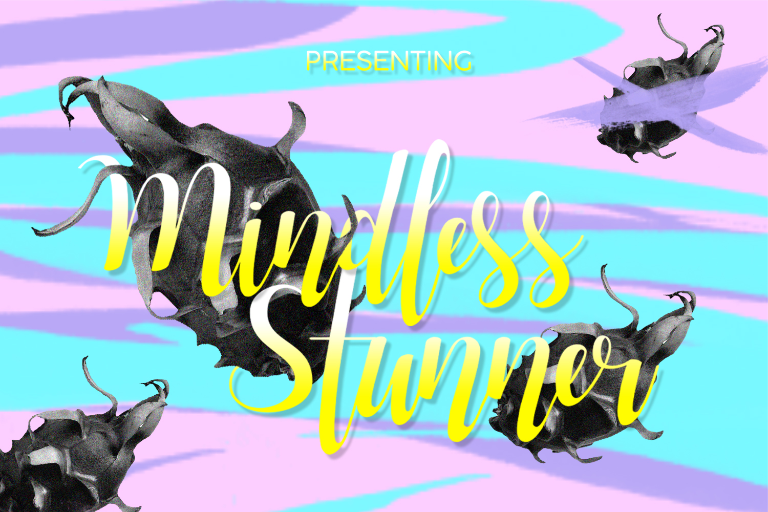 Print on Demand: Mindless Stunnner Display Font By Spasova