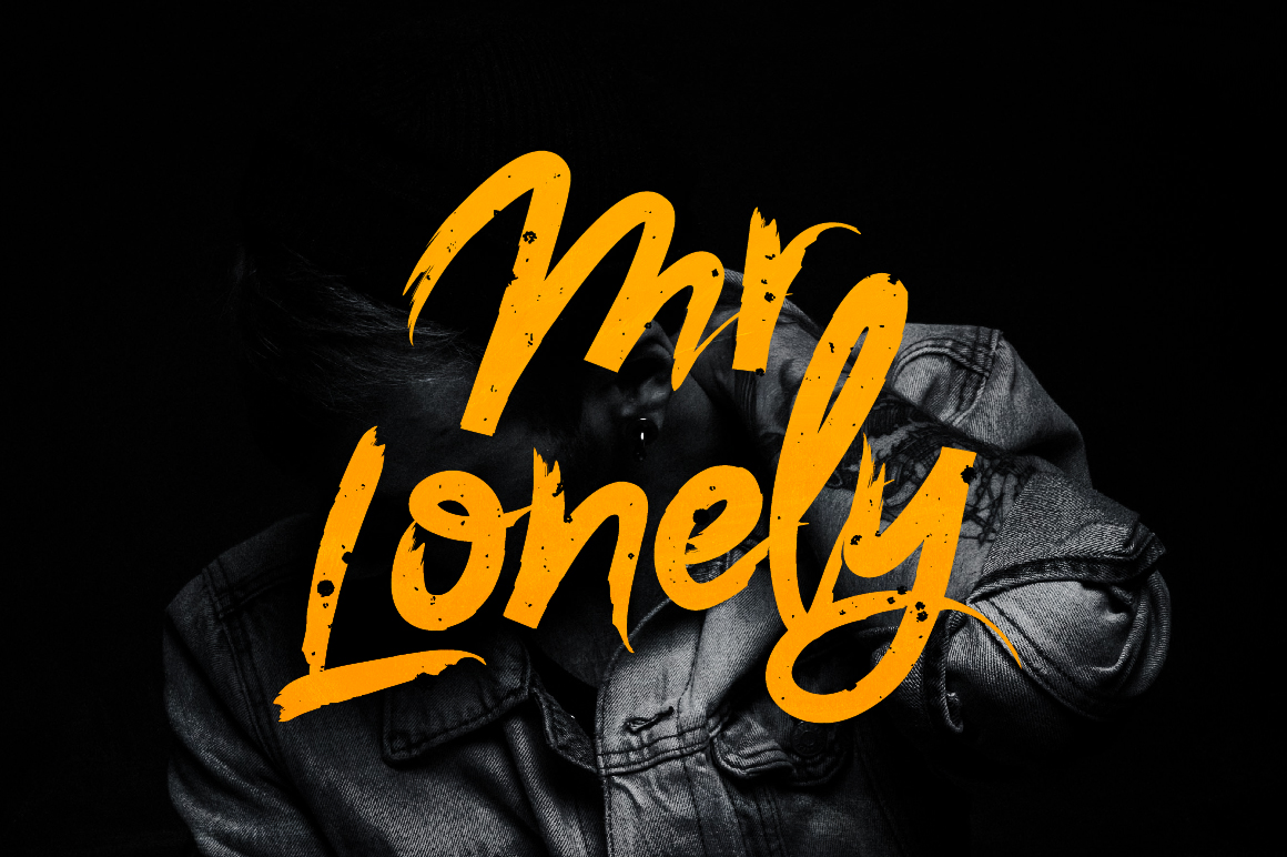 Print on Demand: Mr. Lonely Script & Handwritten Font By ChekArt - Image 1