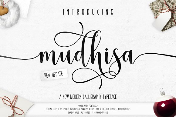 Print on Demand: Mudhisa Script & Handwritten Font By barland