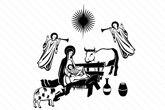Download Free Nativity Scene Svg Cut File By Creative Fabrica Crafts for Cricut Explore, Silhouette and other cutting machines.