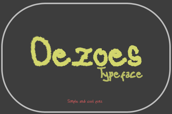 Print on Demand: Oezoes Display Font By Gblack Id