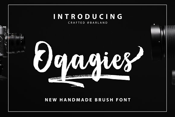 Print on Demand: Oqagies Script & Handwritten Font By barland - Image 1