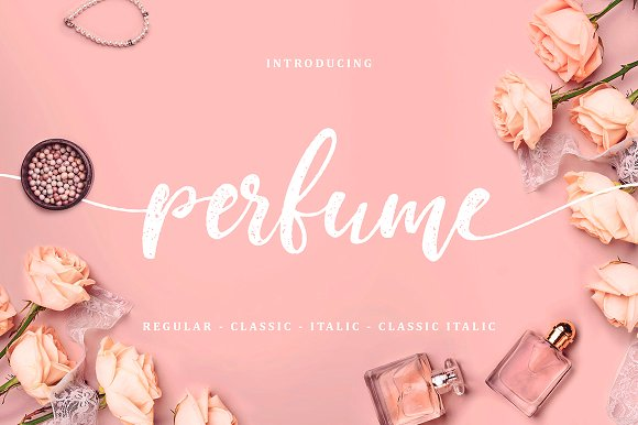 Print on Demand: Perfume Script & Handwritten Font By Creative Fabrica Fonts