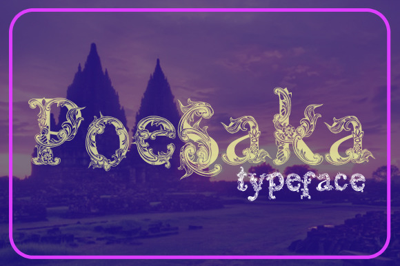 Print on Demand: Poesaka Display Font By Gblack Id