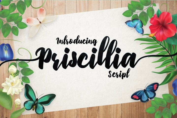 Priscillia Font By Debut Studio