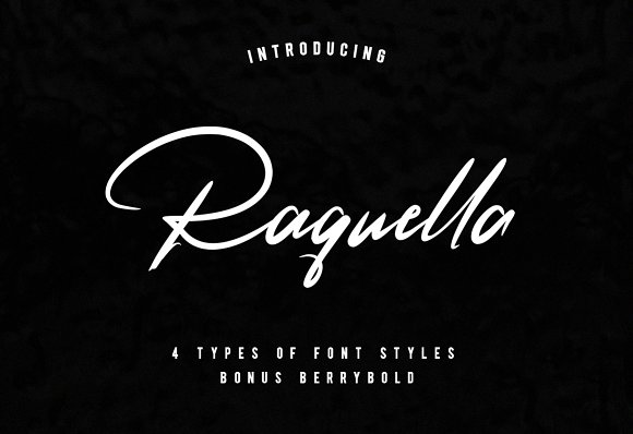 Print on Demand: Raquella Script & Handwritten Font By Ijem RockArt - Image 1