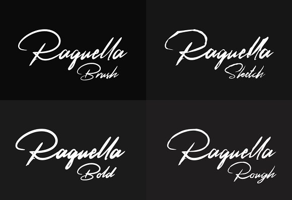 Print on Demand: Raquella Script & Handwritten Font By Ijem RockArt - Image 6