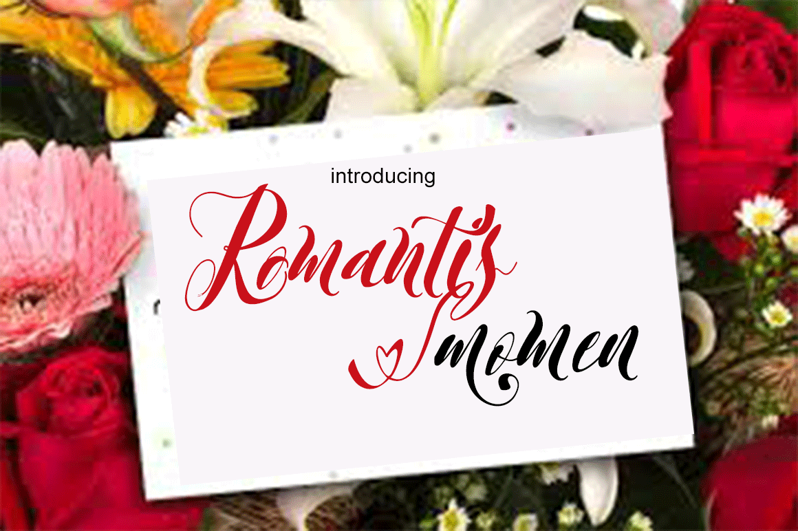 Print on Demand: Romantis Momen Script & Handwritten Font By Sinfa.co