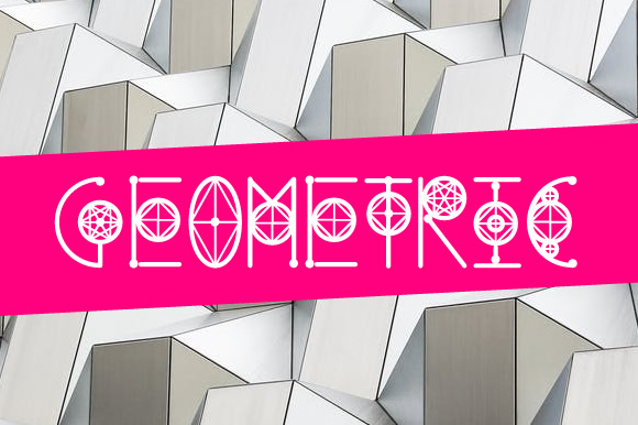 Print on Demand: Round Geometric Schriftarten von Creative Fabrica Freebies