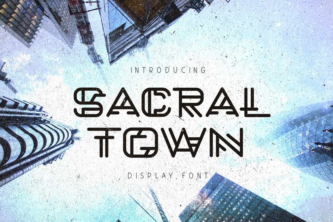 Print on Demand: Sacral Town Display Font By ChekArt