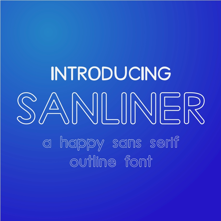 Print on Demand: Sanliner Sans Serif Font By Asif