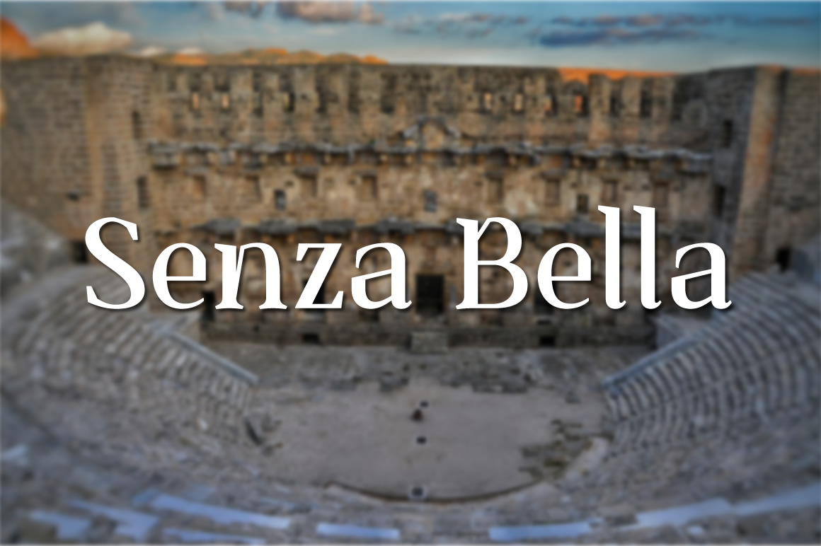 Print on Demand: Senza Bella Font By Creative Fabrica Freebies