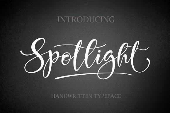 Print on Demand: Spotlight Script & Handwritten Font By Byuly Ayika