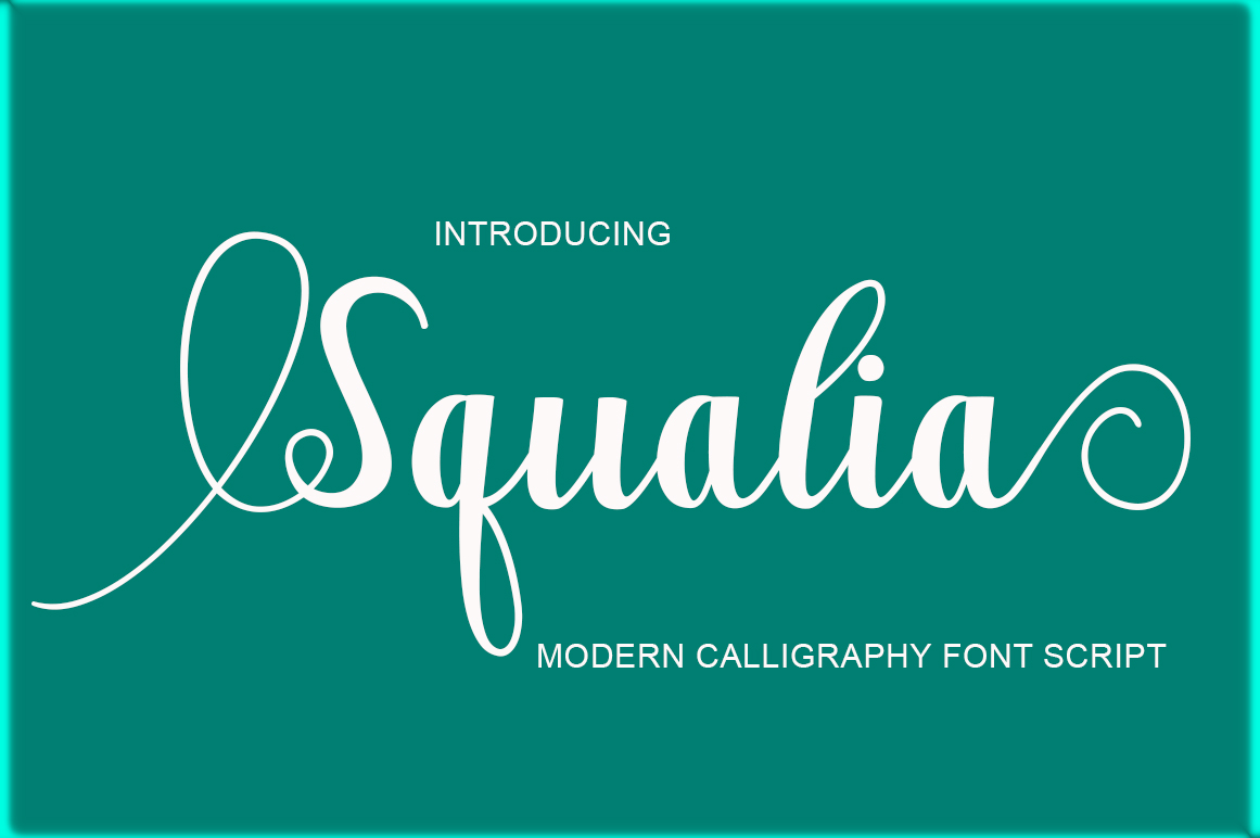 Print on Demand: Squalia Script & Handwritten Font By Imun Studio
