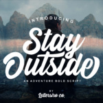 Stay Outside Typeface by Lettersiro Co.