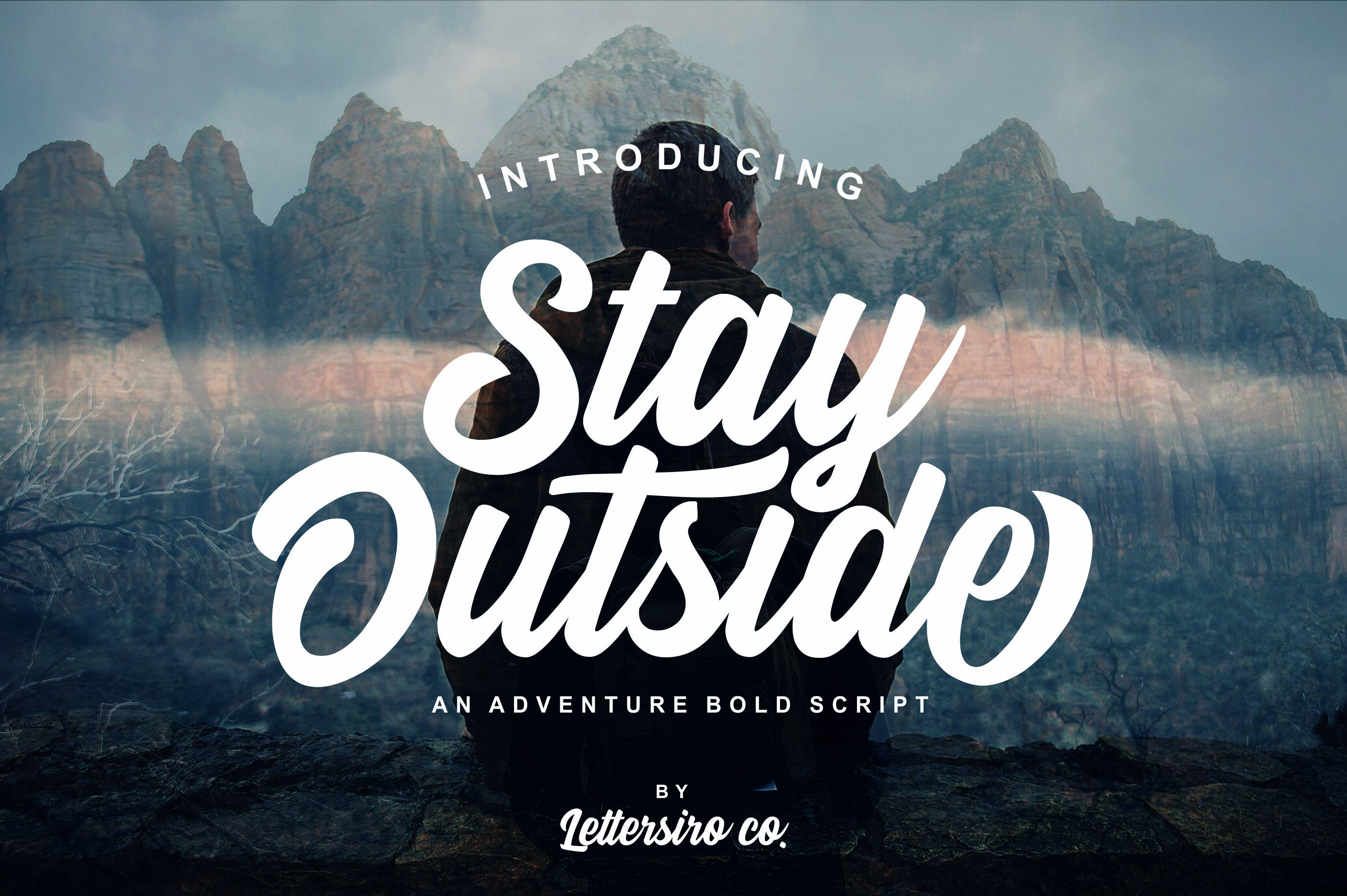 Stay Outside Font By Lettersiro Co. Image 1