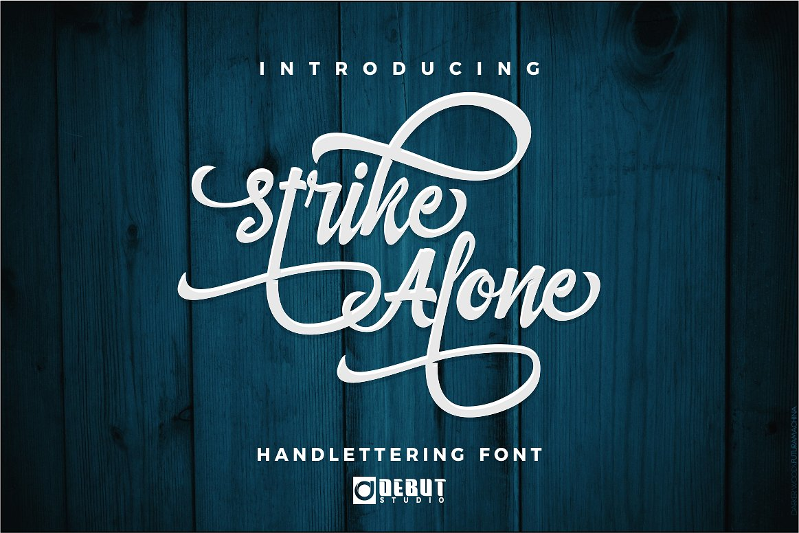 Strike Alone Font By Debut Studio