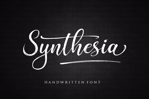 Print on Demand: Synthesia Script & Handwritten Font By Byuly Ayika - Image 1