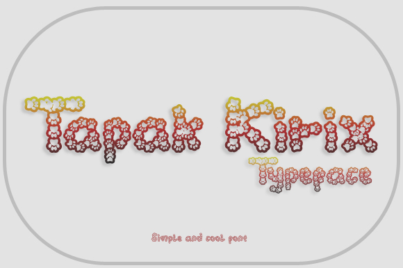Print on Demand: Tapak Kirix Display Font By Gblack Id