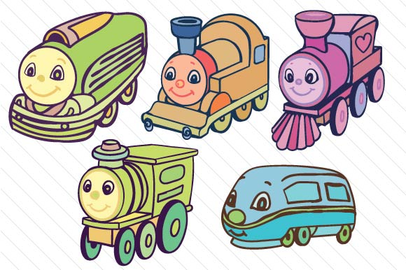 Trains Kids Craft Cut File By Creative Fabrica Crafts