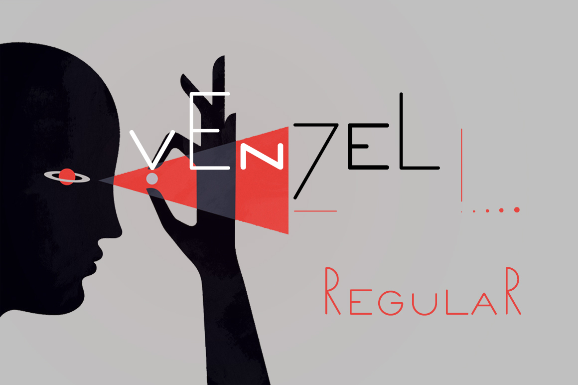 Print on Demand: Venzel Regular Display Font By Etewut