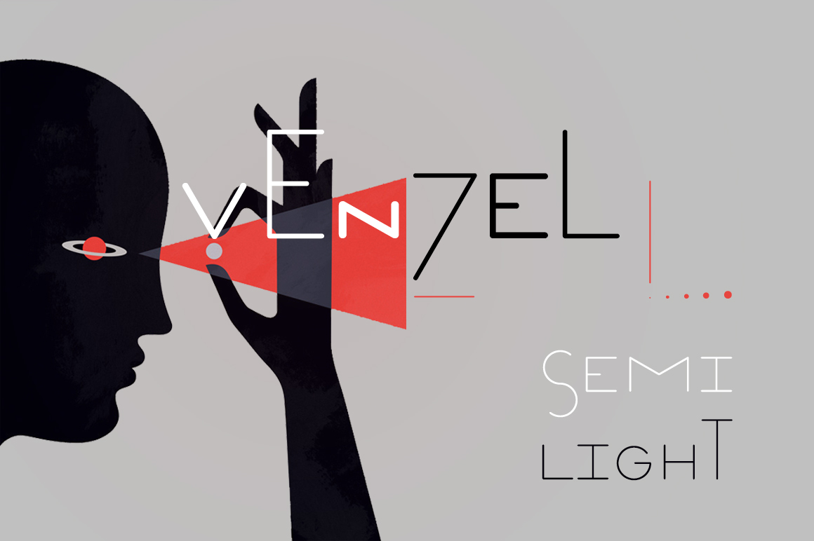 Print on Demand: Venzel Semilight Display Font By Etewut