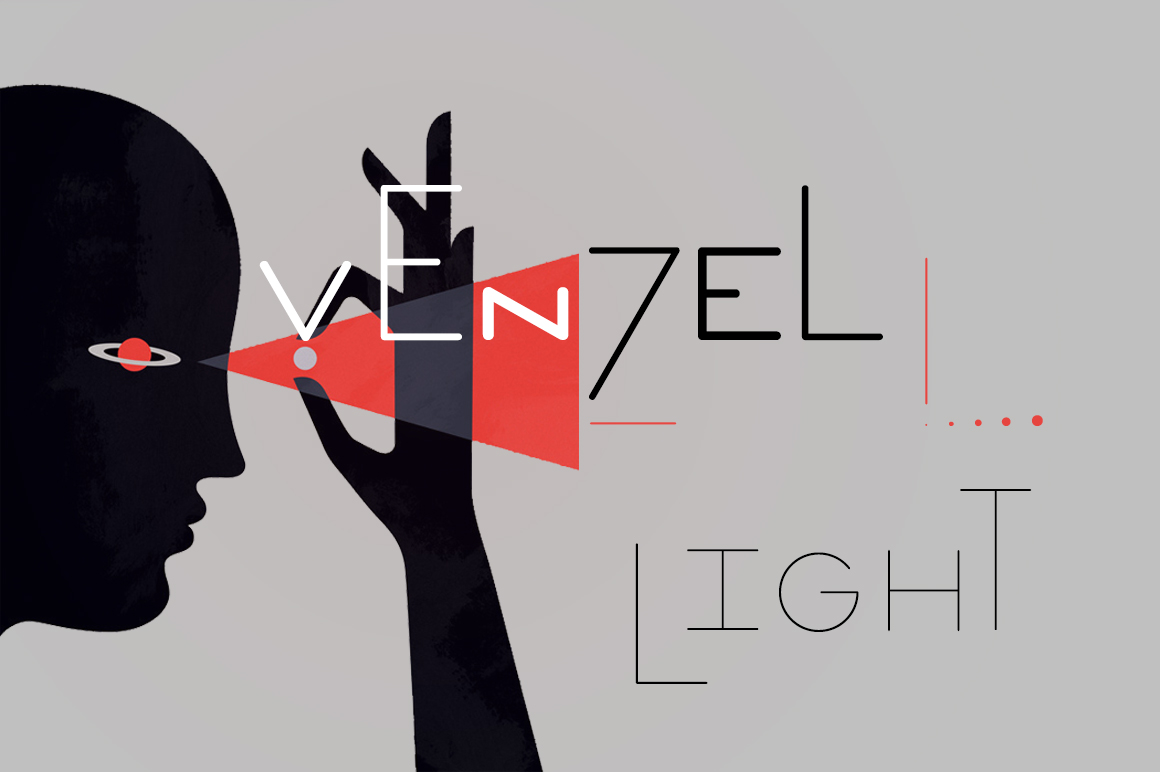 Print on Demand: Venzel Light Display Font By Etewut