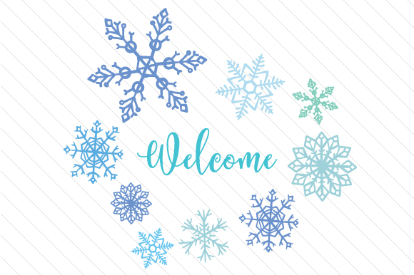 Download Free Welcome With Snowflakes Archivos De Corte Svg Por Creative for Cricut Explore, Silhouette and other cutting machines.