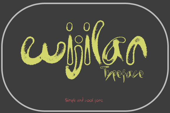 Print on Demand: Wijilan Display Font By Gblack Id - Image 2