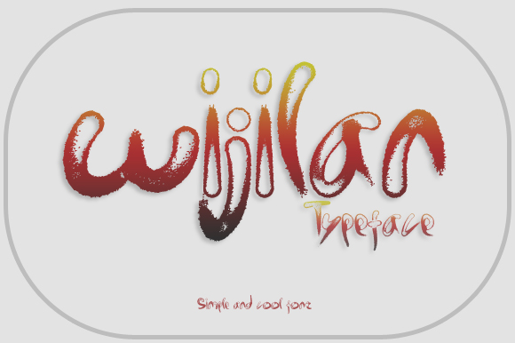 Wijilan Font By Gblack Id Image 1