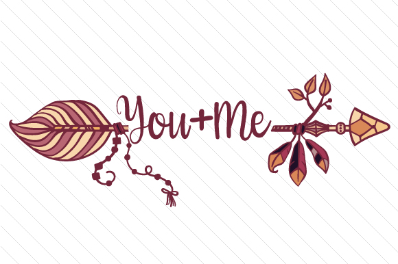 You+Me Arrow Boho Craft Cut File By Creative Fabrica Crafts