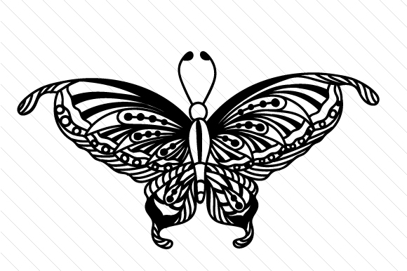 Download Free Zentangle Butterfly Svg Cut File By Creative Fabrica Crafts for Cricut Explore, Silhouette and other cutting machines.