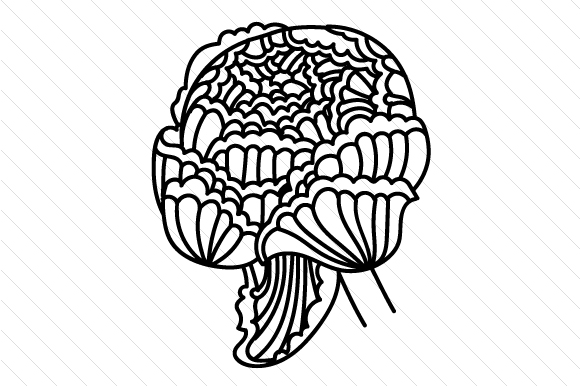 Download Free Zentangle Flower Svg Cut File By Creative Fabrica Crafts for Cricut Explore, Silhouette and other cutting machines.