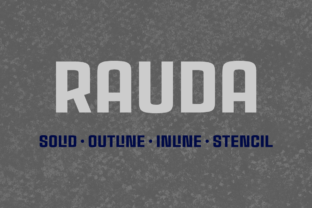 Rauda Family Font By Graviton Font Foundry