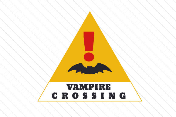 Vampire Crossing Halloween Craft Cut File By Creative Fabrica Crafts