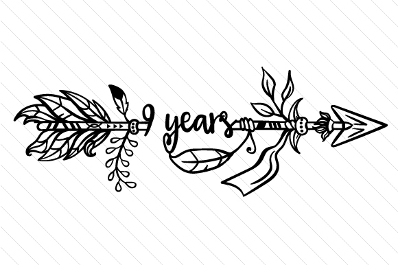 Download Free 9 Years Svg Cut File By Creative Fabrica Crafts Creative Fabrica for Cricut Explore, Silhouette and other cutting machines.