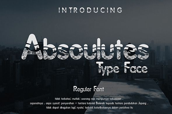 Print on Demand: Absoulutes Display Font By Gblack Id