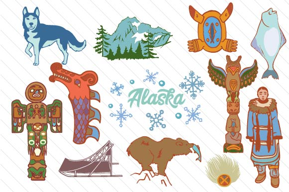 Download Free Alaska Design Set Svg Cut File By Creative Fabrica Crafts Creative Fabrica for Cricut Explore, Silhouette and other cutting machines.