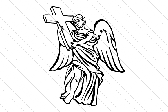 Download Free Angel With Cross Design Svg Cut File By Creative Fabrica Crafts for Cricut Explore, Silhouette and other cutting machines.