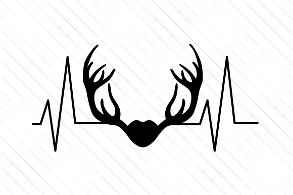 Antlers Heartbeat Designs & Drawings Craft Cut File By Creative Fabrica Crafts