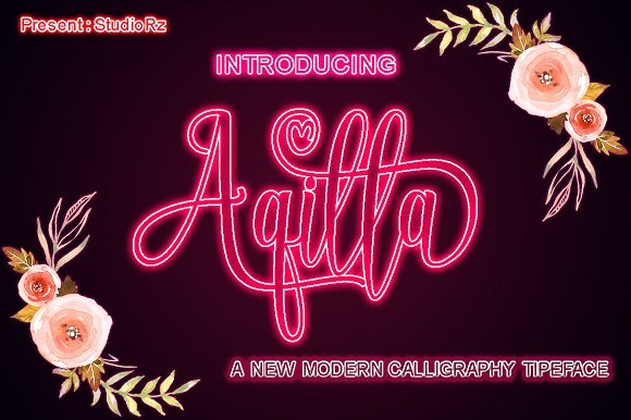 Print on Demand: Aqilla Script & Handwritten Font By StudioRz