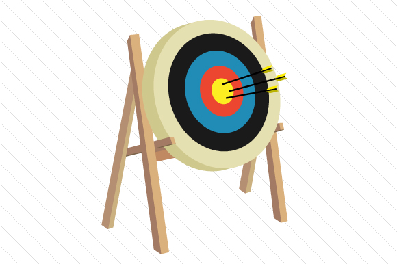 Archery Target Sports Craft Cut File By Creative Fabrica Crafts
