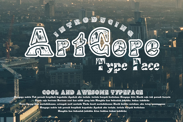 Print on Demand: ArtCore Decorative Font By Gblack Id