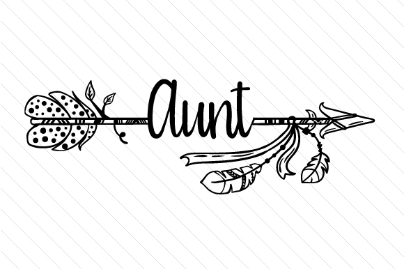 Aunt Boho Craft Cut File By Creative Fabrica Crafts - Image 2