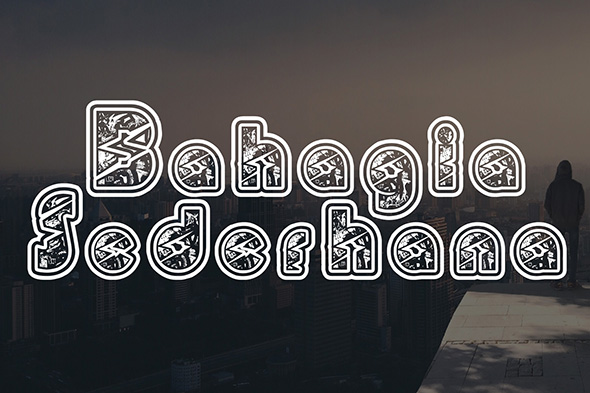 Print on Demand: BabehMoe Decorative Font By Gblack Id - Image 3