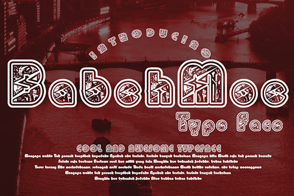 Print on Demand: BabehMoe Decorative Font By Gblack Id - Image 1